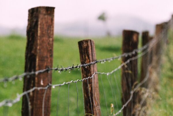 How to install wood and wire fence